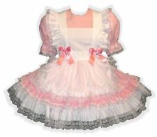 """Cassie"" Custom Fit PINK Adult Baby LG Sissy Dress & Pinafore LEANNE"