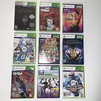 Xbox 360 Kinect 9 Games Lot Skyrim Fable Sports