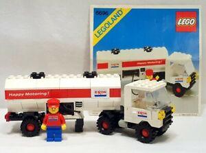 HTF Vintage Lego Classic Town #6696-1 Exxon Fuel Tanker (1984): 100% Comp w/Inst