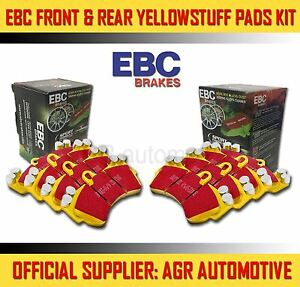 EBC YELLOWSTUFF FRONT + REAR PADS KIT FOR HUMMER H3 3.5 2005-07