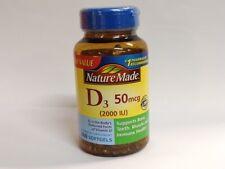 Nature Made Vitamin D3 50 mcg (2000 IU), 260 Softgels