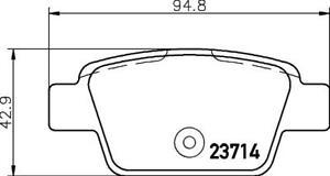 Hella Pagid Rear Brake Pads fits Fiat RITMO 198_ 1.9 D Multijet 1.4 (198AXA1B)