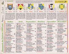 CALENDRIER ALMANACH des postes PTT 1993 horoscope
