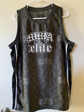 MMA Elite Tank Top Size Medium Black Grey