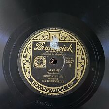 78rpm BIX BEIDERBECKE SIOUX CITY SIX i`m glad / MIF MOLE flock o` blues