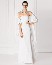 Sutton Studio  NWT $289  Long Taffeta Gown  &  Wrap 14P