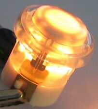 Illuminated Doorbell Switch - Lighted Amber Door Bell Round Pushbutton - 16mm