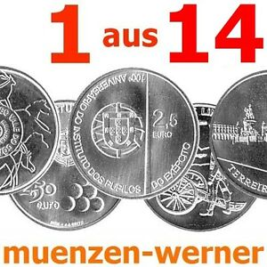 Sondermünzen Portugal: 2,5 Euro Münze 1 aus 2008-2011 Sondermünze Gedenkmünze