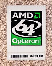 "Large AMD Opteron 64 Sticker 3"" x 3-3/4"" Case Badge Logo Label USA Seller"