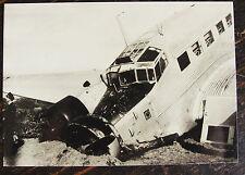 AVIATION, PHOTO CRASH AVION ST RAPHAEL 1952 (RETIRAGE)