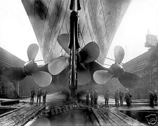 Photograph of the Drydocked Steamship RMS Titanic Propellers   Year 1911  11x14