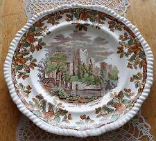 Antique Porcelain Plate English W T Copeland & Son Acorn Castle Dish Plaque 1867
