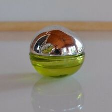 Donna Karan DKNY Be Delicious small green glass ball PERFUME BOTTLE 3/4 full