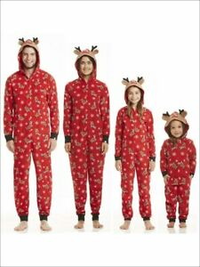NWOT CHRISTMAS REINDEER ADULT HOODED ONE-PIECE COSTUME - Size M