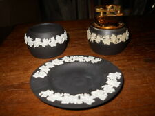 #7 Wedgwood Black Basalt Lighter, Ashtray, Cigarette Holder