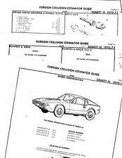 1970 1971 1972 1973 SAAB SONNETT III 70 TO 73 BODY PARTS LIST CRASH SHEETS MF RE