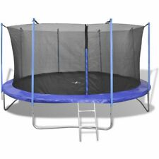 vidaXL Five Piece Trampoline Set 3.66 m Safety Net Pad Rain Cover Ladder Kids