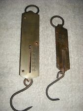 2 brass faced weigh scales