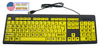 Big & Bright EZ See Keyboard High Contrast Large Keys Visually Impaired Keyboard