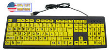 Big & Bright EZ See Keyboard High Contrast Large Keys Visually Impaired Keyboard