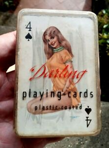Complete Deck Of Vintage 1950s Glamour Playing Cards