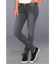 NWT $68 DC Skinny Jeans Faded Grey Stretch Cotton Denim Low Rise 29 Super Nice!!