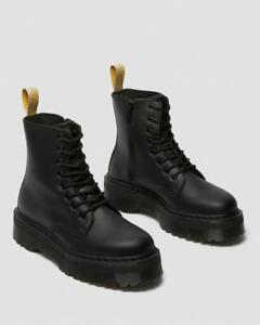 Dr Martens Vegan Jadon II Mono Black Platform Boots for Women Fashion