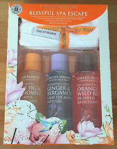 Calcot Manor Blissful Bath Spa Escape Gift Set With Luxury Wash Cloth Brand New