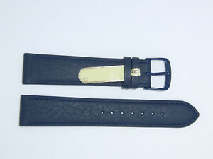 "DI-Modell Genuine Cowhide Waterproof Leather 20 mm NAVY BLUE Watch Band ""SPORT"""