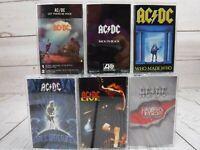 Cassette Lot x6 AC/DC Let Be Rock Back In Black Who Razors Edge Live Ballbreaker