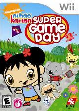 Super Game Day Ni Hao Kai-Lan WII New Nintendo Wii