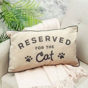 Sass & Belle 'Reserved For The Cat' Cushion