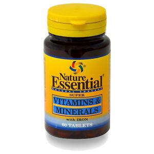 VITAMINAS Y MINERALES 600 mg. 60, 120, 180 o 300 Comprimidos - NATURE ESSENTIAL