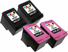 4PK For HP 61 CH561WN CH562WN (New Gen) Deskjet 1510 1512 2000 2050 2510 2512
