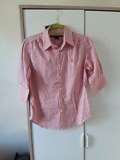 Ralph Lauren Sport Womens Shirt Short Manche Red Stripe US 10