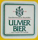 alter Bierdeckel ULMER BIER, Bauhöfer Renchen-Ulm 🍺 U-5-5-