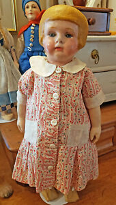 Martha Chase Cloth Doll  Oil-Painted Cloth Character Doll with Bobbed Hair