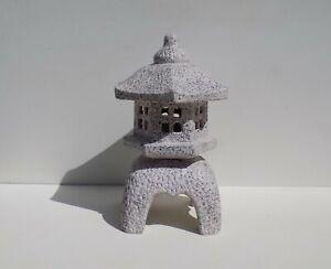 "8 1/4"" Shinsaku-Yukimi Ceramic Lantern Japanese Bonsai Garden Ornament 74-1"