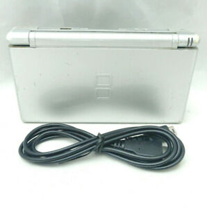 Nintendo DS Lite Metallic Silver Handheld Game Console Loose Top TESTED [3957F]