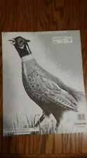 """(22) Saunders Archery Pheasant Targets by Epsen Lithographing Animal Face 14x11"""""""