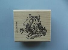 STAMPIN' UP RUBBER STAMPS COZY CABIN NEW wood STAMP