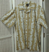"""VANS TRIPLE CROWN OF SURFING Hawaiian Shirt L 49"""" Chest Abstracted Surfers Print"""