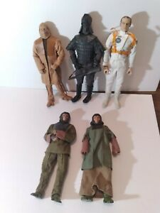 """Planet of the Apes Sideshow 12"""" Figures(5) Collection Lot-Ursus,Zaius,Taylor,etc"""