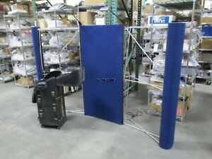 """Featherlite AFT Trade Show Tabletop Display 96"""" x 60"""", Travel Case Damaged Lamps"""
