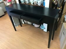 ex display console table , black hall table , 2 drawer console table