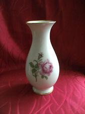 Fürstenberg Vase, Tischvase , Rote Rose, Höhe 18,5 cm