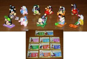 Set 11 Figure TALPE 2 IN VACANZA Serie KINDER FERRERO Ovetti Merendero Eggs