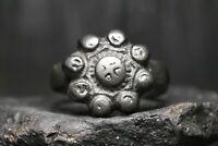 Antico anello vichingo in bronzo, IX-XII secolo d.C., Kiev Rus, autentico.