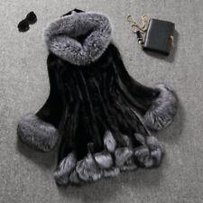 Winter Sweet Women's Warm Paded Outwear Faux Fox Fur Jacket Hoodie Coat For Girl