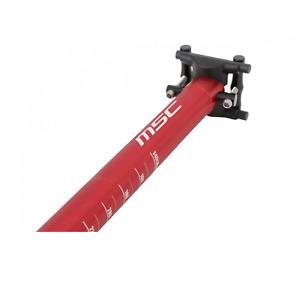 Tija recta 300mm color rojo MSC Ø 27.2X410mm ANODIZADO alu7075t6